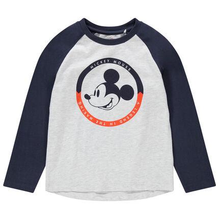 T-shirt manche longues print Mickey Disney