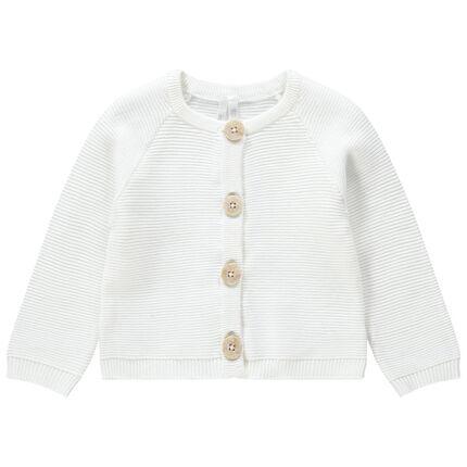 Gilet en tricot avec boutons effet corne