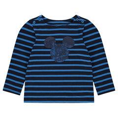 Marinière en jersey avec print Mickey