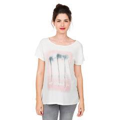 Zwangerschapst-shirt met korte mouwen met palmboomprint