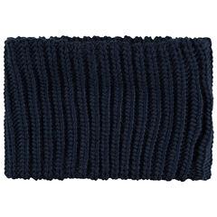 Geribde snood van tricot met sherpavoering