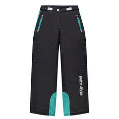 Junior - Skibroek met zakken met ritssluiting en turquoise inzetsels