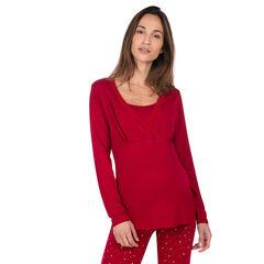 T-shirt met kant, ideaal als homewear tijdens de zwangerschap en de borstvoeding