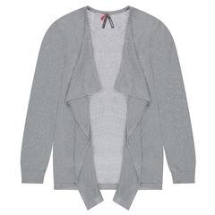Junior - Vest van gemengde tricot met blinkende draad