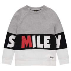 Junior - Sweat en molleton avec inscription printée ©Smiley