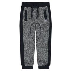 Pantalon de jogging en molleton twisté avec poches passepoilées