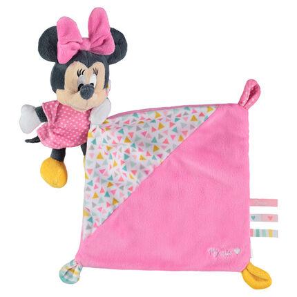 Pluchen Disney knuffeldoekje met opgenaaide Minnie
