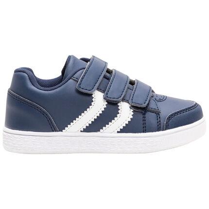 Sneakers met klittenbandsluiting en contrasterende banden