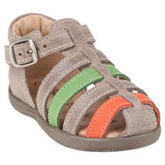 Open schoenen met lintjes gesp contrasterende afwerking