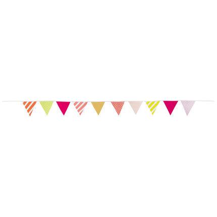 Decoratieve verjaardagsslinger met kleurrijke driehoeken