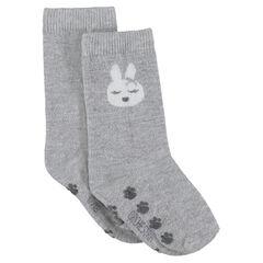 Chaussettes hautes antidérapantes print lapin