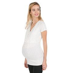 T-shirt met korte mouwen voor tijdens de zwangerschap en de borstvoeding