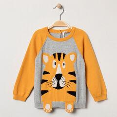 Pull en tricot motif tigre en jacquard