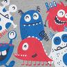 T-shirt met korte mouwen van jerseystof met kleurrijke monsters
