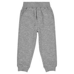 Pantalon uni en molleton