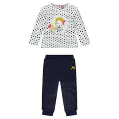 Ensemble de jogging tee-shirt fantaisie et pantalon pailleté