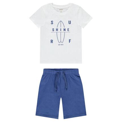 Pyjama met surf-T-shirt en bermuda