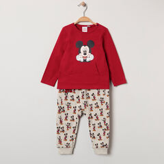 Ensemble t-shirt à poche et pantalon imprimé Mickey all-over