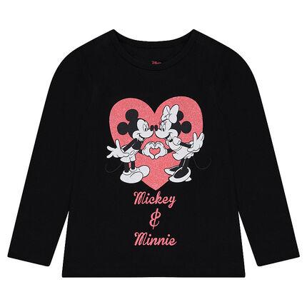 T-shirt met lange mouwen uit jerseystof met ©Disneyprint van Mickey en Minnie