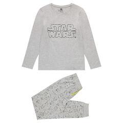 Pyjama van jerseystof met fluorescerende Star Wars print