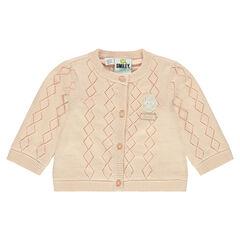 Decoratieve tricotvest met ©Smiley Baby badge