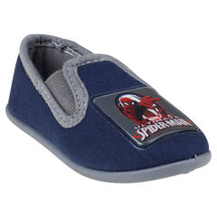 Chaussons bas unis Marvel avec patch Spiderman