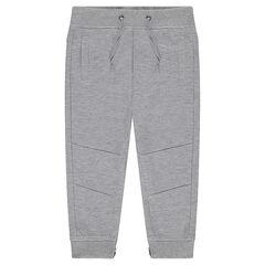 Pantalon de jogging en molleton léger avec zips