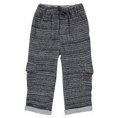 Pantalon en molleton fantaisie doublé jersey à poches