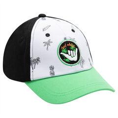 Junior - Pet in drie kleuren met palmboomprint en geborduurde badge