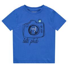 T-shirt met korte mouwen uit jerseystof met print met fototoestel