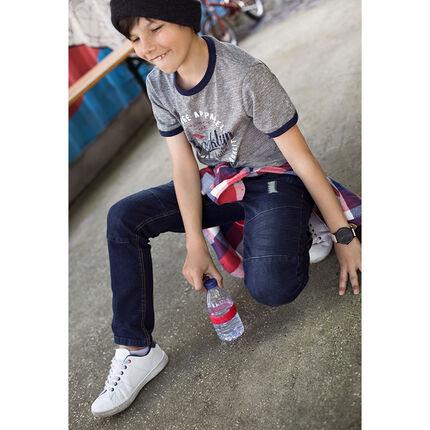 Junior - Slim-fit jeans met used en crinkle effect en slijtage