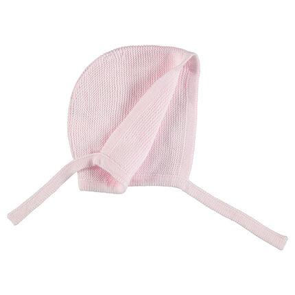 Bonnet de naissance en tricot