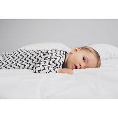 """Set van 2 pyjama's van effen fluweel met maskermotief en print """"all-over"""""""