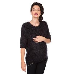 Pull de grossesse en tricot fantaisie