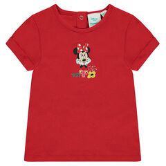 T-shirt met korte mouwen met print van Disney's Minnie