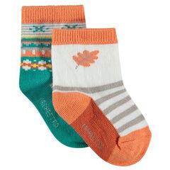 Bijpassende sokken met jacquardmotief