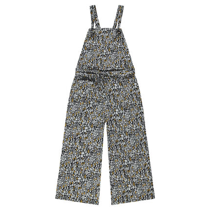 Junior - Lange, brede jumpsuit met waxprint