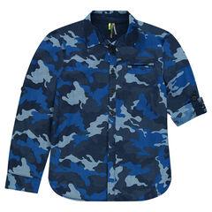 Junior - Hemd met lange mouwen met legermotief