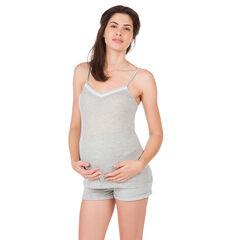 Débardeur homewear de grossesse côtelé