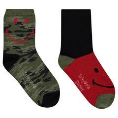 Set met 2 paar matching sokken met legermotief ©Smiley
