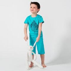 Korte pyjama van jerseystof met fantasieprint