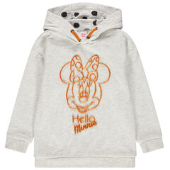 Sweat en molleton à capuche print Minnie Disney