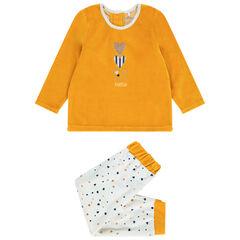 Pyjama en velours imprimé coeurs pour bébé fille , Orchestra