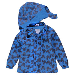 "Rubberen parka met Mickeyprint ""all-over"""