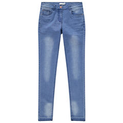 Junior - Jeans met used en crinkle effect