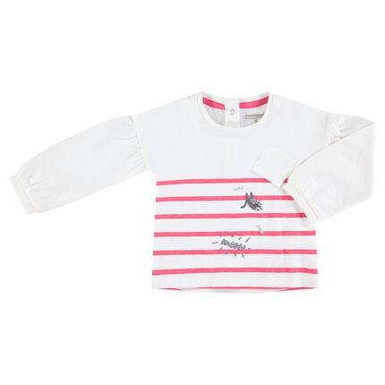 Marinière en jersey avec motifs printés et touches de paillettes