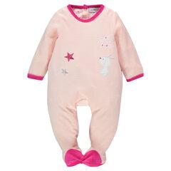 Pyjama in fluweel borduursel