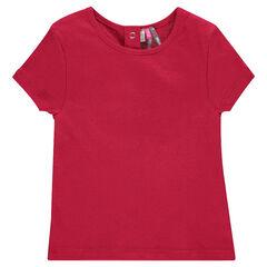 Tee-shirt manches courtes en maille ajourée