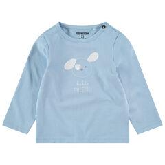 T-shirt met lange mouwen van jerseystof met print met motief