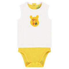Body uit jerseystof met 2-in-1 effect en print van Winnie The Pooh